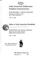 Index to Latin American periodicals Book PDF