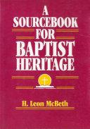 A Sourcebook for Baptist Heritage [Pdf/ePub] eBook