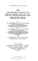 An Introduction to Psychological Medicine