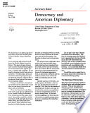 Democracy and American diplomacy