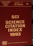 Science Citation Index Book