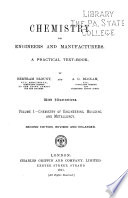 Chemistry for Engineers and Manufacturers: Chemistry of engineering, building, and metallurgy