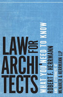 Law for Architects: What You Need to Know [Pdf/ePub] eBook
