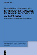 Littérature française et savoirs biologiques au XIXe siècle Pdf/ePub eBook