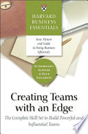Creating Teams With An Edge Book PDF