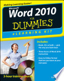 Word 2010 Elearning Kit For Dummies