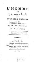 L'homme et la société
