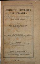 Pdf Æthiopic liturgies and prayers, tr. by J.M. Rodwell
