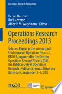 Operations Research Proceedings 2013 Book PDF