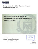 Evaluation of Numerical Weather Prediction for Solar Forecasting