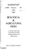 Biological & Agricultural Index