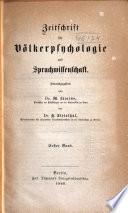 Zeitschrift für Völkerpsychologie und Sprachwissenschaft