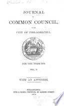 Journal of the Common Council  of the City of Philadelphia  for