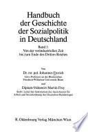 Handbuch der Geschichte der Sozialpolitik in Deutschland: Von der vorindustriellen Zeit bis zum Ende des Dritten Reiches