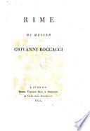 Rime [ed. by G.B. Baldelli Boni.].