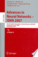 Advances in Neural Networks - ISNN 2007