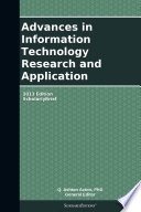 Advances in Information Technology Research and Application: 2013 Edition