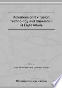 Advances On Extrusion Technology And Simulation Of Light Alloys Book PDF