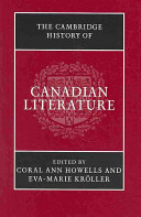 The Cambridge History of Canadian Literature Book