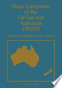 Major Companies of The Far East and Australasia 1992 93