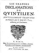 Les grandes declamations, nouvellement trad. par Du-Teil