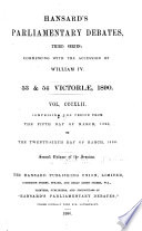 The Parliamentary Debates  Authorized Edition  Book PDF