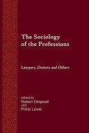 The Sociology of the Professions Pdf/ePub eBook