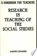 Research in Teaching of Social Studies