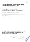 Effects of Animal Feeding Operations on Water Resources and the Environment