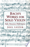 Bach S Works For Solo Violin