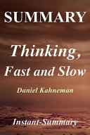 Summary   Thinking  Fast and Slow  Book