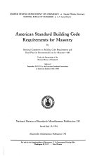 American Standard Building Code Requirements for Masonry