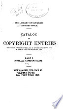 Catalog of Copyright Entries Pdf/ePub eBook
