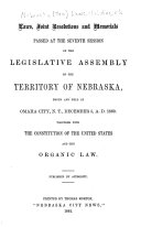 Laws, Joint Resolutions and Memorials
