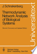 Thermodynamic Network Analysis of Biological Systems