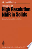 Principles Of High Resolution Nmr In Solids Book PDF