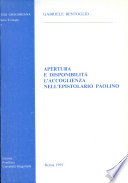 Apertura e disponibilità l'accoglienza nell'epistolario Paolino