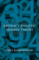 Abstract Analytic Number Theory [Pdf/ePub] eBook
