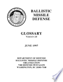 Ballistic missile defense glossary