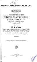 Independent Offices Appropriations 1961