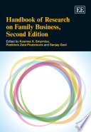 Handbook of Research on Family Business Book