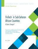 FinTech in Sub-Saharan African Countries
