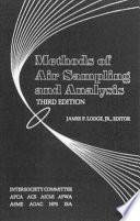 Methods of Air Sampling and Analysis Book