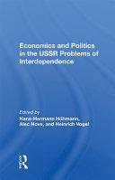 Economics And Politics In The Ussr Pdf/ePub eBook