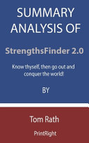 Summary Analysis Of StrengthsFinder 2.0