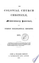 The Colonial Church chronicle  and missionary journal  July 1847 Dec  1874 Book
