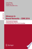 Advances In Neural Networks Isnn 2016 Book