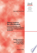 Giving Credit to the Microlenders Book