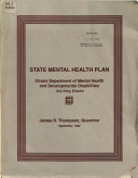State Mental Health Plan for a Client centered Comprehensive Mental Health Service System  FY89   FY91   Book