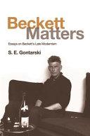 Pdf Beckett Matters Telecharger